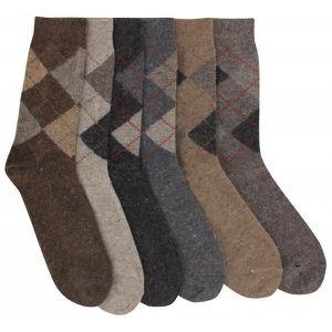 chaussettes homme lot de 6 marron gris marron achat. Black Bedroom Furniture Sets. Home Design Ideas