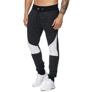 SURVÊTEMENT Jogging fashion noir chiné bi ton Violento 2f14620b8a11