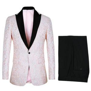 costume homme mariage 2 pieces vintage pour Modérateur chanteur Imprimé  fleur costume 7d159152ebe