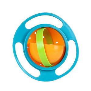 360 tournez alimentation Bol Repas Bébé Anti-Déversement Gyro Bol Lisse pour Enfants Évitez les aliments renverser mains Bol Vert