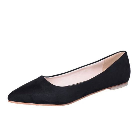 Fashion Femmes Girl Flat Pointed Top Shallow Slip-on Casual Shoes Party Shoes Noir_XZ*6108 Noir Noir - Achat / Vente slip-on