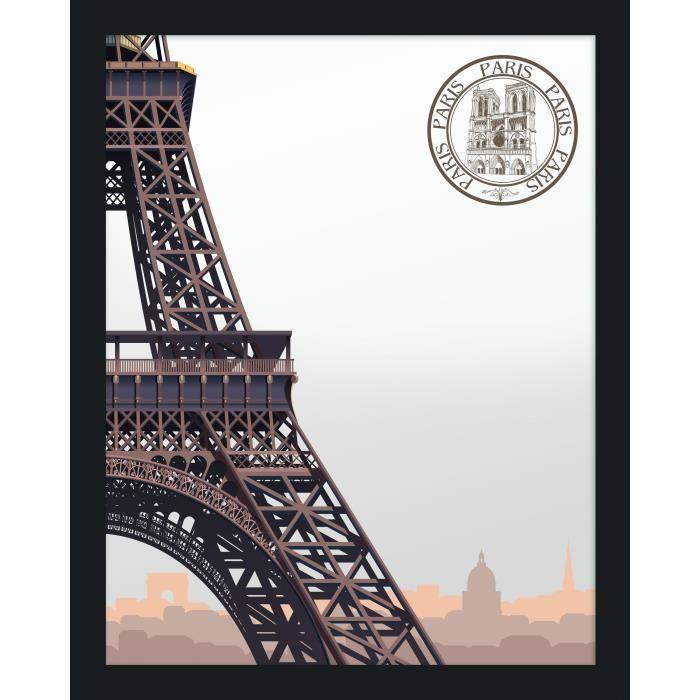 Tour Eiffel Miroir - 40x50 cm - Motif plage impriméMIROIR