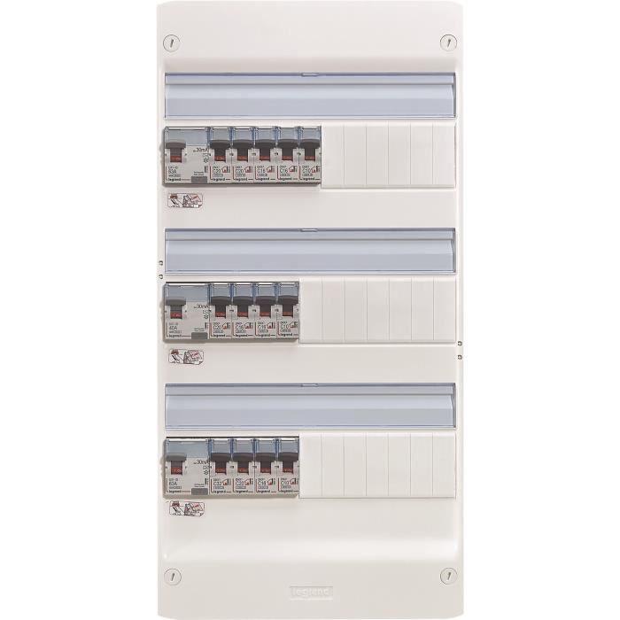 LEGRAND Tableau électrique équipé précâblé Essentiel spécial pour logement T5