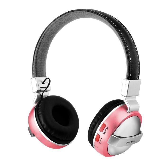 Casque Bluetooth Sur L'oreille Stéréo Sans Fil Avec Microphone Tf