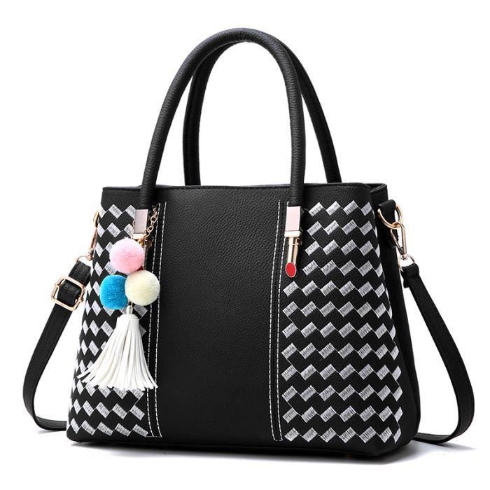 sac à main Femmes en cuir Tassel Fourre-tout Femme PU Mesdames cuir Designer -302