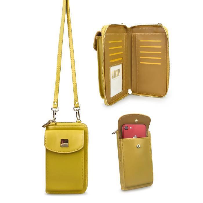 Multifonctions Petit sac à bandoulière Portefeuille bourse Mobile Pouch XPABI