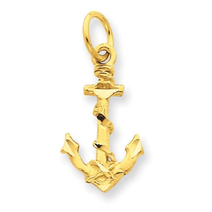 Charm ancre 14 carats-Dimensions :22,6 x 10,5 mm