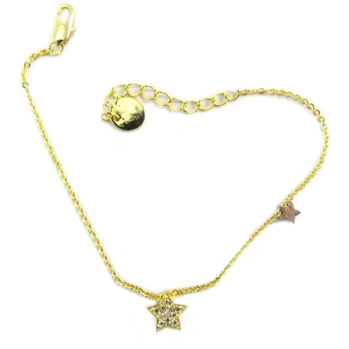 Bracelet artisanal Une Etoile est Née doré -5 et 8 mm [P5805]