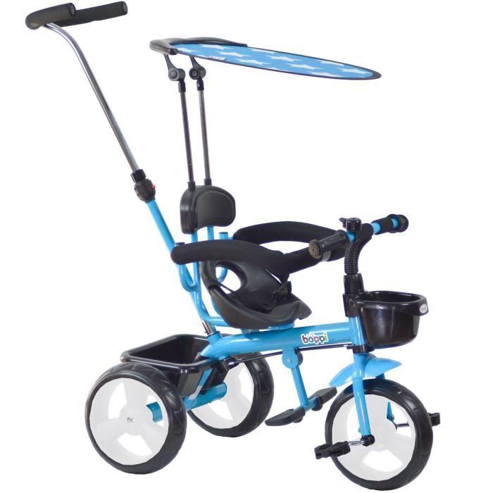 TRICYCLE Tricycle 4-en-1 boppi® - 9 à 36 mois - Bleu - bopp