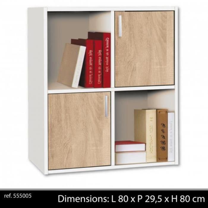 Cube De Rangement Cases Portes Meuble De R Achat Vente - Etagere avec porte