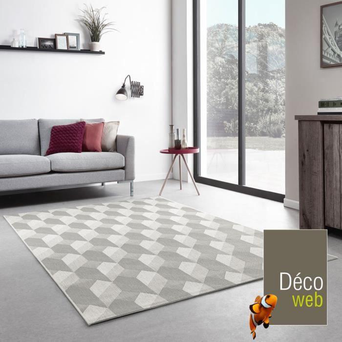 tapis int rieur ext rieur essenza gr ge cubes 3d achat vente tapis cdiscount. Black Bedroom Furniture Sets. Home Design Ideas