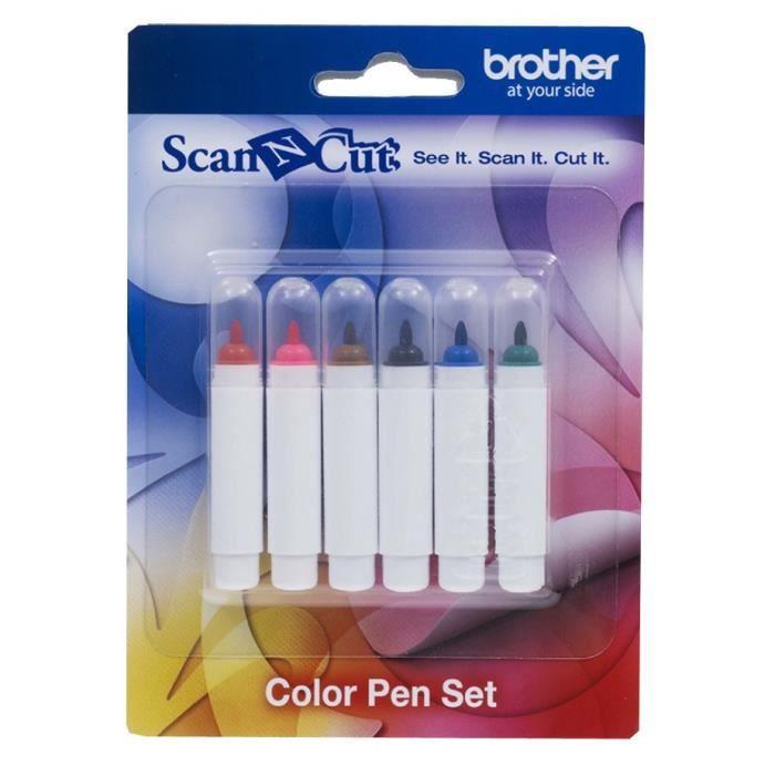 GABARIT DE DÉCOUPE ScanNCut CM840 CM600 BROTHER Kit stylos couleur (6