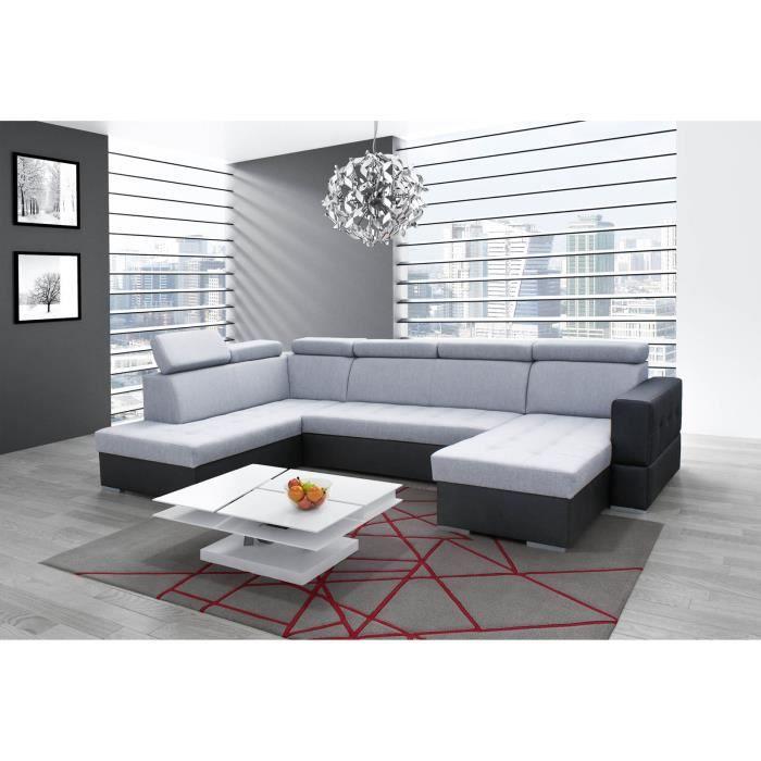 canap d 39 angle en u convertible softy xxl achat vente canap sofa divan cdiscount. Black Bedroom Furniture Sets. Home Design Ideas