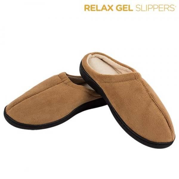 CHAUSSONS RELAX GEL SLIPPERS Noir