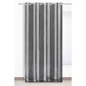 rideau gris avec motif argent achat vente rideau gris avec motif argent pas cher cdiscount. Black Bedroom Furniture Sets. Home Design Ideas