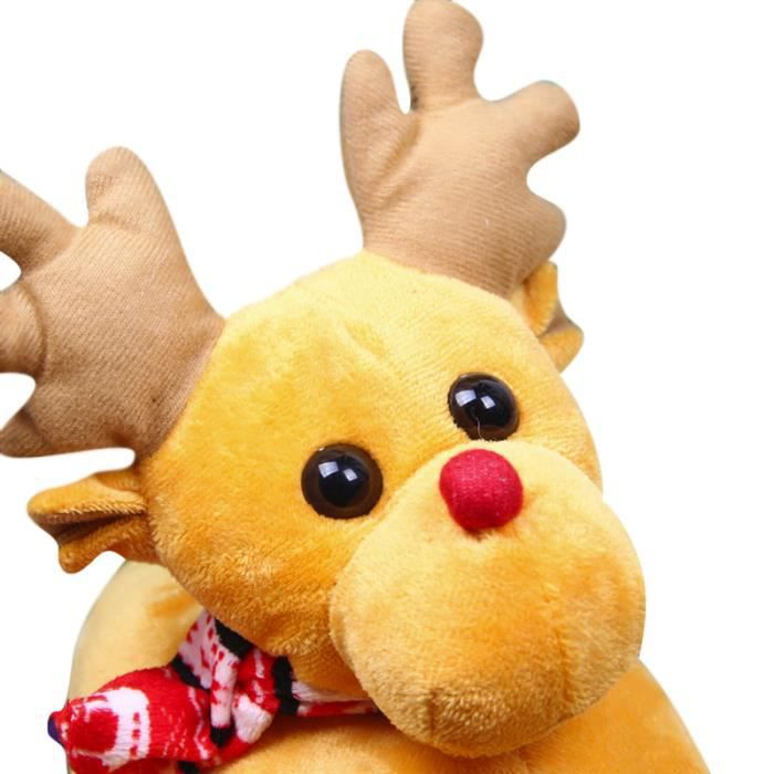 Pantoufles Femmes Hommes en peluche Hiver Cerf de Noël Adulte Chaussons doux et chauds Populaire BMMJ-XZ140Jaune39