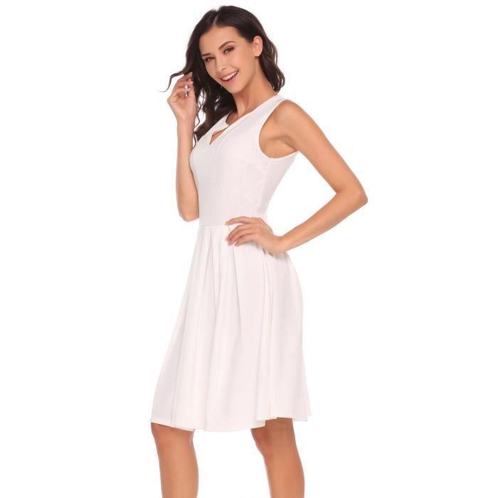 Robe de femme V-cou sans manches à capuche plissée