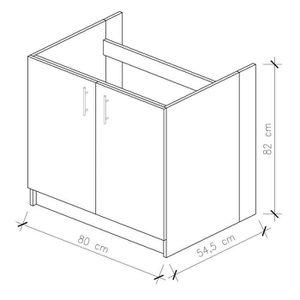 meuble sous evier 80 cm achat vente pas cher. Black Bedroom Furniture Sets. Home Design Ideas