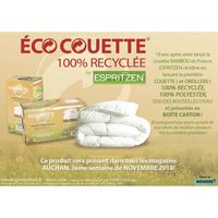 COUETTE Couette 140x200 ECO Couette  400g 100% Recyclée