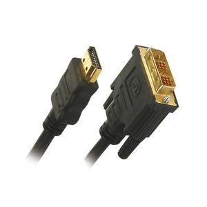 CÂBLE TV - VIDÉO - SON APM 530005 Câble HDMI Dvi Mâle / Mâle 1.3b - Plugs