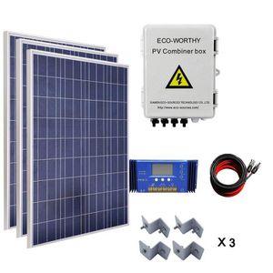 ecoworthy 3000w panneau solaire systme 3 pcs 100w poly panneau solaire 4 cordes commutateur. Black Bedroom Furniture Sets. Home Design Ideas