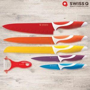 COUTEAU DE CUISINE  couteaux céramique lot de 5 + eplucheur