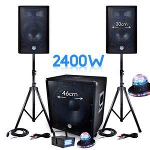 PACK SONO PACK SONO 2400W  BMS-1812 SUB 46cm 2 enceintes 30c