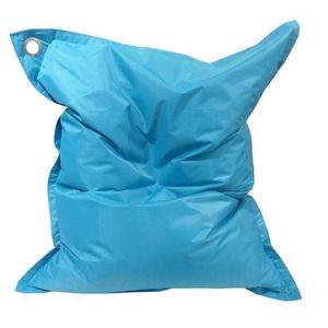POUF - POIRE Pouf géant imperméable JAVA - 110x130 cm - Bleu tu