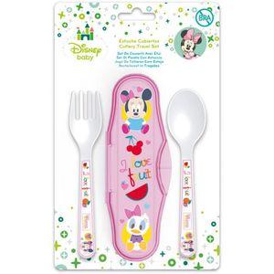 COUVERTS BÉBÉ Couverts bébé filles Minnie cuillère et fourchette