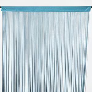 Rideaux fil bleu achat vente rideaux fil bleu pas cher cdiscount - Rideau bleu et jaune ...
