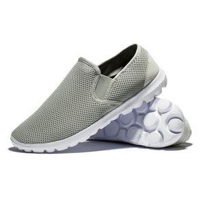 Sneaker Homme De Marque De Luxe 2017 ete Sneakers Nouvelle arrivee Qualité  Supérieure Chaussures plus Taille Super 39-44 Gris Gris - Achat   Vente  basket ... cca749376e5ab