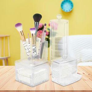 PALETTE DE MAQUILLAGE  4pcs Boîte de Rangement Maquillage Organisateur co