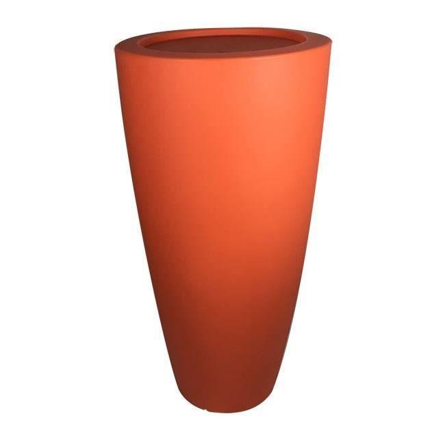 Pot de fleurs conique Delight - 200 L - Orange