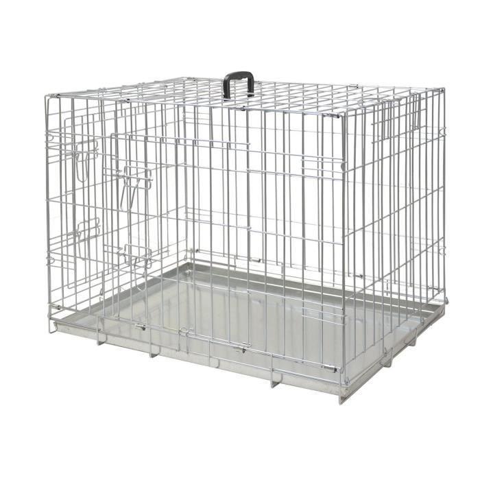 NOBBY Cage métallique zinc - 116x77x86cm - Pour chien