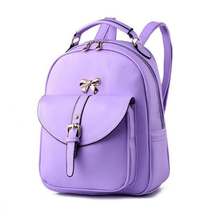 2018 sac à dos de la mode des femmes sacs à main en cuir violet sac cuir femme Sacoche Femme qualité supérieure sac luxe cuir