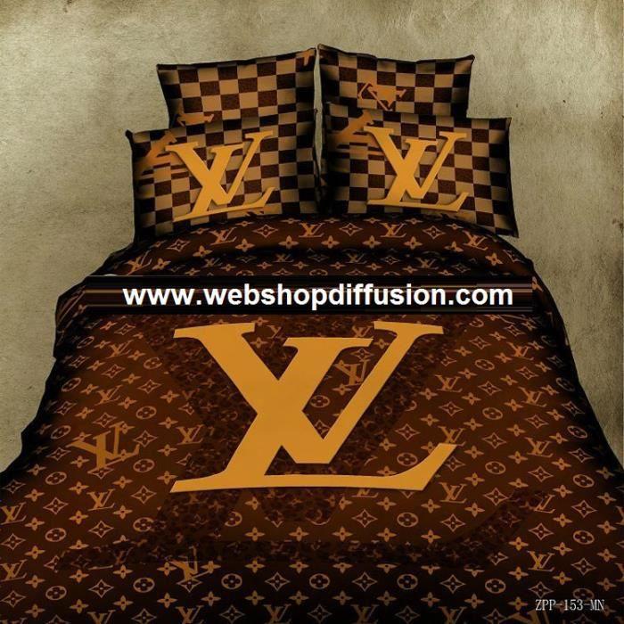 linge de lit louis vuitton Parure 3D 2 personnes Louis Vuitton   Achat / Vente parure de drap  linge de lit louis vuitton