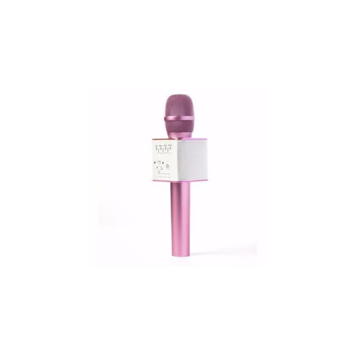 Karaoké Ktv Q9 Portable Sans Fil, Microphone Bluetooth, Haut-parleur Pour Iphone Samsung – Couleur Violet Noir