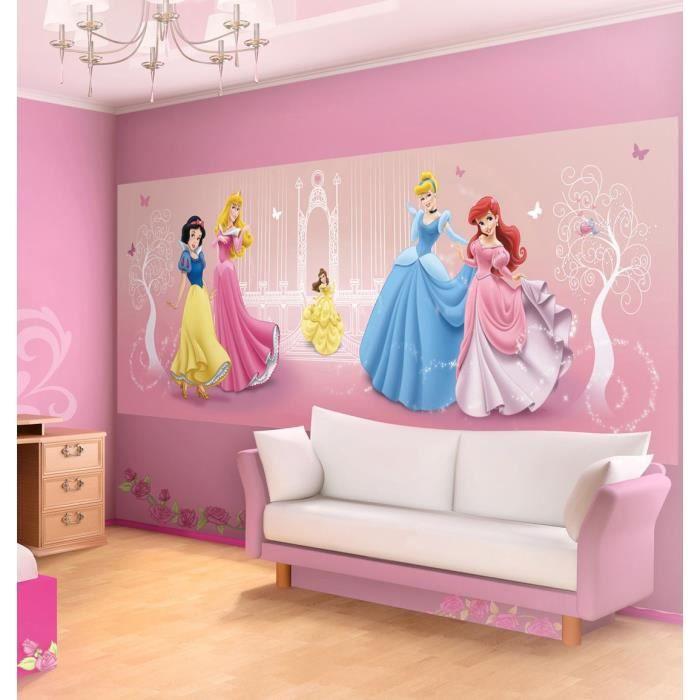 Fresque Murale Princesses Disney 250x104 cm pour Chambre d ...