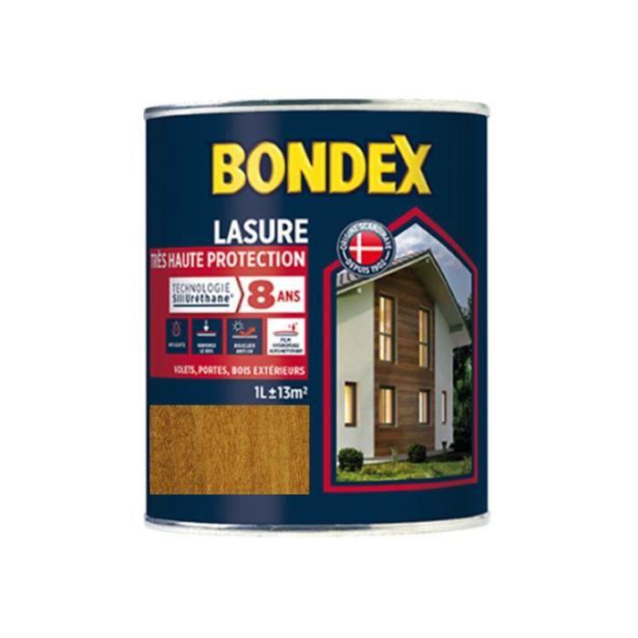 PEINTURE - VERNIS BONDEX Lasure Haute protection 8 ans - Châtaignier