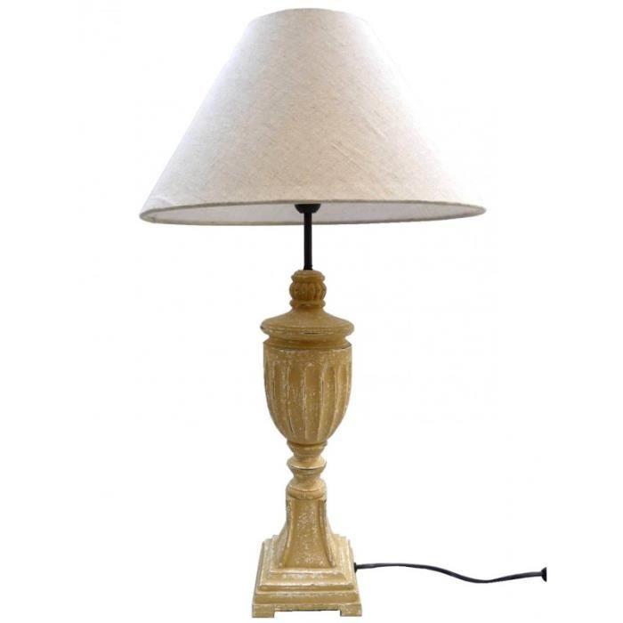 Lampe De Chevet Luminaire De Salon En Bois Sur Pied Travaille Avec