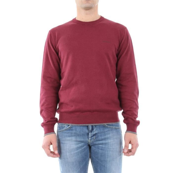 1926b52713c ARMANI JEANS PULL homme Bordeaux - Achat   Vente pull - Cdiscount