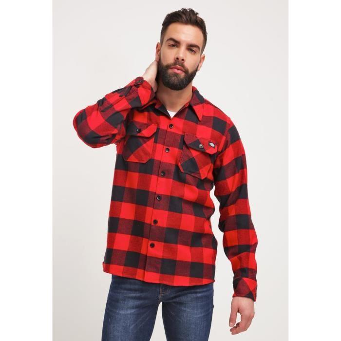 chemise homme carreaux rouge achat vente chemise homme carreaux rouge pas cher cdiscount. Black Bedroom Furniture Sets. Home Design Ideas