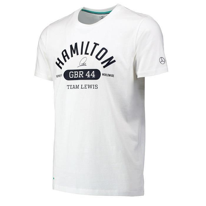 Blanc Amg Mercedes Pour Hamilton Shirt Homme Lewis T xqZwP7XRn