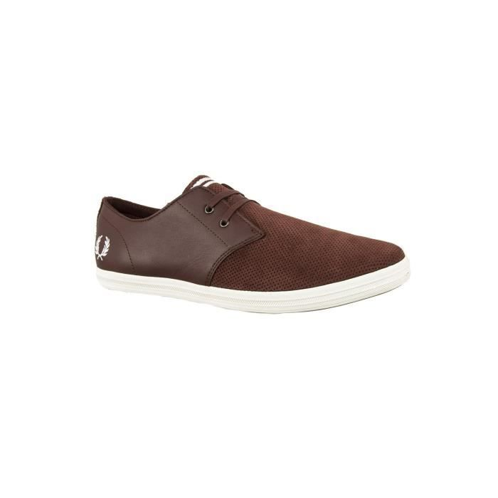 baskets mode fred perry b2084 byron marron