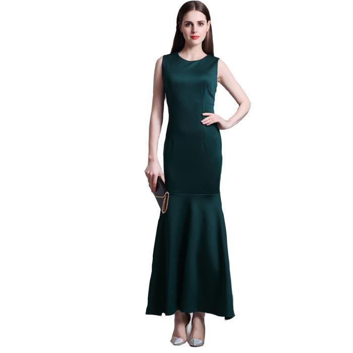 Robes Femme Slim Élégant À La Mode Couleur Unie