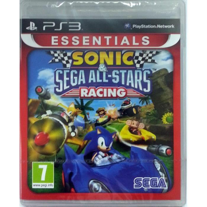 JEU PS3 Sonic and Sega All-Stars Racing: Essentials (Plays