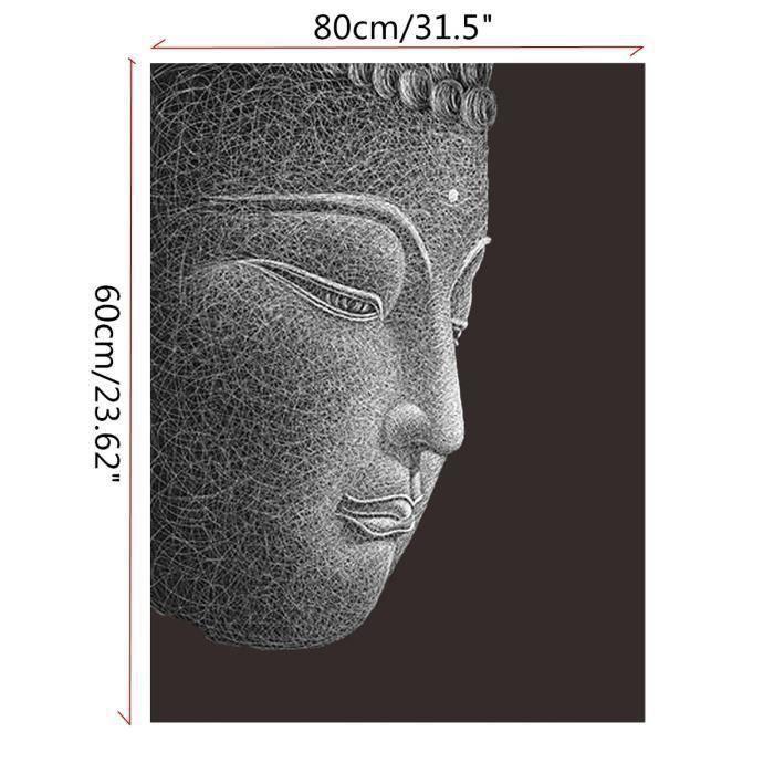 TABLEAU - TOILE TEMPSA 80X60cm Modern Buddha Tableau Peinture à l'