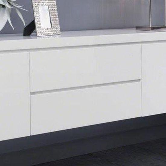e266e414f8f22c Buffet bahut suspendu blanc laqué design TYLER - Achat   Vente buffet -  bahut Buffet bahut suspendu blanc... - Cdiscount