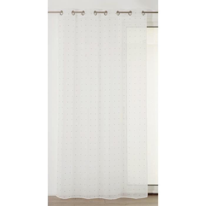 Matière : 100% polyester - Dimensions : 140x240 cm - Coloris : beige - Type d'attache : 8 ŒilletsVOILE - VOILAGE