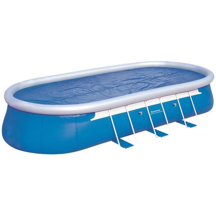 BESTWAY Bâche solaire pour Fast Set Pools ovale 610x366x122cm - 560x311cm